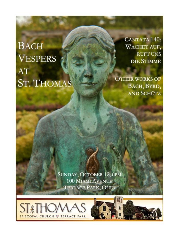 Bach Vespers October 2014 flyer