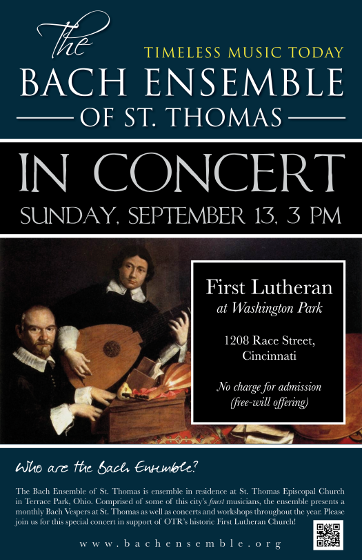 Bach First Lutheran Poster