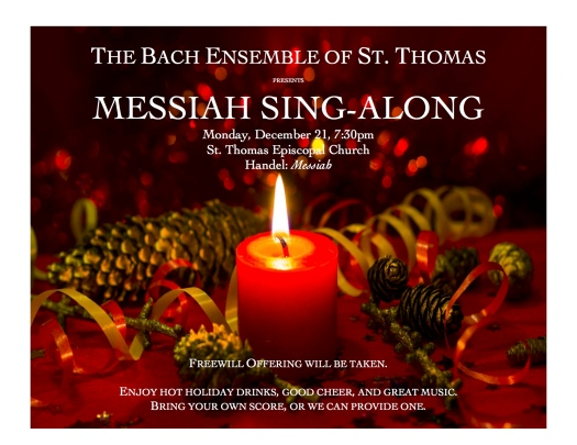 Messiah Sing Along Poster 2015