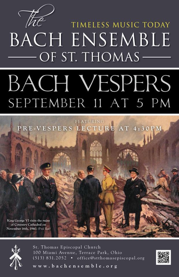 Bach Vespers September 11 2016