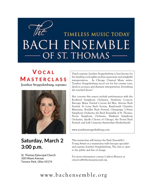 Bach Ensemble Masterclass Flyer