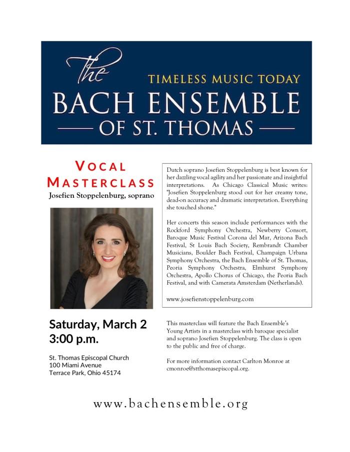 Bach Ensemble Masterclass Flyer