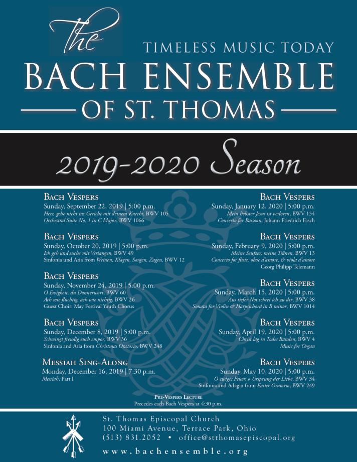 2019-2020 Season Poster 8.5 x 11